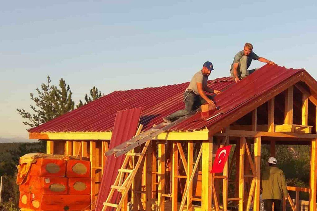 Trapez Çatı Kaplaması Uygulaması
